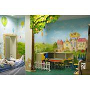 Детская Дизайн и роспись стен фото