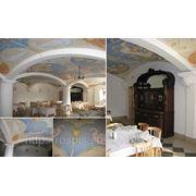 Художественная роспись потолков в кафе фото