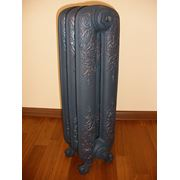 Радиатор Akant покрашеный в цвет серый мат декорированный рисунок фото