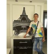 Художественная роспись стен Эйфелевая башня Париж фото