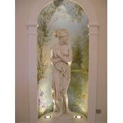Роспись в интерьере акриловыми и масляными красками фото