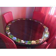 Роспись мебели (обеденного стола) фото