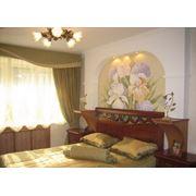 Заказ художественной росписи в спальную комнату фото