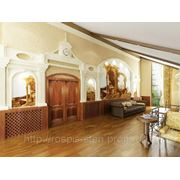 Дворцовый кабинет в стиле барокко классика Донецк фото
