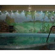 Роспись в бассейне фото