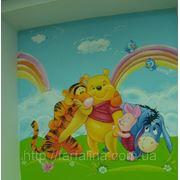 Роспись детской комнаты высокой сложности фото