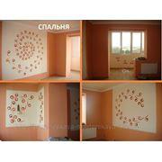 Роспись стен, интерьера (комната 22 кв.м. + 9 кв.м. роспись) фото