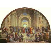 Иммитация фрески на стенах фото