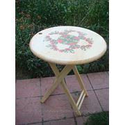 Роспись мебели (стола) фото