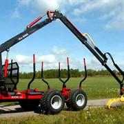 Тракторные лесовозные прицепы с гидроманипулятором Weimer. фото