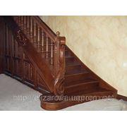 Лестница дубовая фото