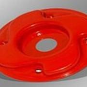 Катушка диск металлический большой для мотокосы. фото