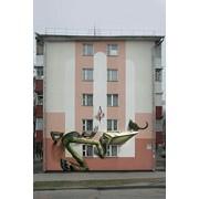 Роспись торцевых фасадов жилых домов фото