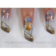 Аквариумный дизайн ногтей (аквариумный эффект) фото