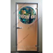 Логотип на двери. Витраж ручной работы. Киев, заказать фото