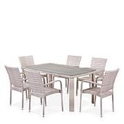 Комплект плетеной мебели T51A/Y376-W85-150x85 6Pcs Latte фото