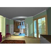 Дизайн інтер'єру загальної кімнати квартири фото