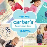 -5% и -10% минус от цены сайта Carters Картерс и oshkosh . 50% ПРЕДОПЛАТА! фото