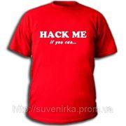 """Админские футболки """"Hack Me"""" фото"""