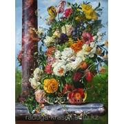 Картина по номерам Цветочный ансамбль фото