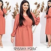 Платье женское с кулиской по талии (3 цвета) НВ/-4161/1 - Терракотовый фото