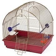 Зоомарк Клетка для птиц Малая полукруглая комплект фото