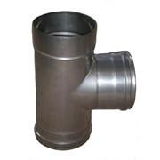 Тройник из нержавеющей стали: 87, 0,5мм, диаметр (ф150) фото
