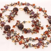 Колье, браслет и серьги из янтаря 10967bne-aw фото