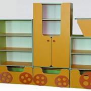 Стенка детская (МДФ), мебель детская в детский садик, детская комната, шкаф детский, игровые комнаты фото