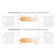 01-6-ТН Фрезы для изготовления вагонки 180х60 с напайными пластинами Р6М5 (без полки, R=4,шип трапеция) фото