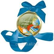 Шоколадная медаль - Любимому учителю Ж.ШМт5.70-п264 для детей фото