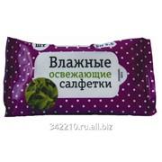 Влажные салфетки Ладушки белый чай 15 шт. фото