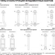 Фундаментные (анкерные) болты ГОСТ24379.1 фото