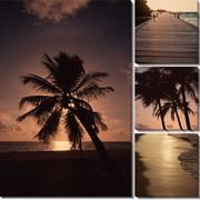 Модульная картина Пляж закат, Неизвестен фото