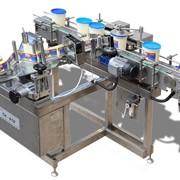 Автомат этикетировочный для нанесения самоклеящихся этикеток на вертикальную круглую тару СК-010-К с вращением на месте фото