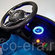 Одноместный электромобиль Porshe E001EE, с резиновыми колёсами и кожаным креслом фото