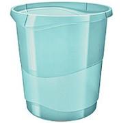 Корзина для мусора Esselte Colour Ice, 14 л, синий фото
