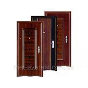 Двери металлические с накладкой МДФ фото