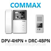 Commax DPV-4HPN + Commax DRC-4BPN комплект черно-белого домофона фото