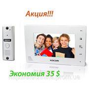 KOCOM KCV-A374 white + KC-MC20 простой комплект цветного домофона белый фото