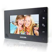 KOCOM KCV-A374SD mono black цветной домофон с памятью фото