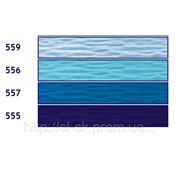 Бумага гофрированная, оттенки синего цвета фото