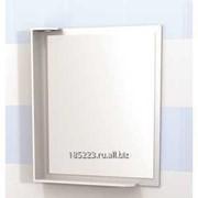 Зеркало Латте 60см с полочкой свет, белый фото