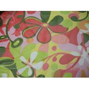 Стрейч-сетка с цветочным принтом фото