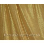 Стрейч-сетка телесная с оттенком загара и золотым напылением фото