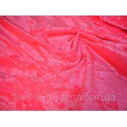 Cтрейч-бархат крэш персиково-розовый фото