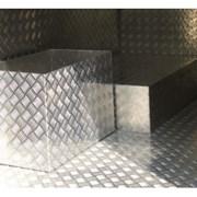 Алюминиевый лист рифленый от 1,2 до 4мм, резка в размер. Гладкий лист от 0,5 до 3 мм. Доставка по всей области. Арт-440 фото