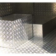 Алюминиевый лист рифленый от 1,2 до 4мм, резка в размер. Гладкий лист от 0,5 до 3 мм. Доставка по всей области. Арт-12 фото