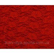 Стрейч-гипюр красный фото