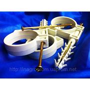 Хомут (обойма) 50 mm быстрого монтажа (хомут,зажим) с ударным шурупом для крепления труб и кабелей фото